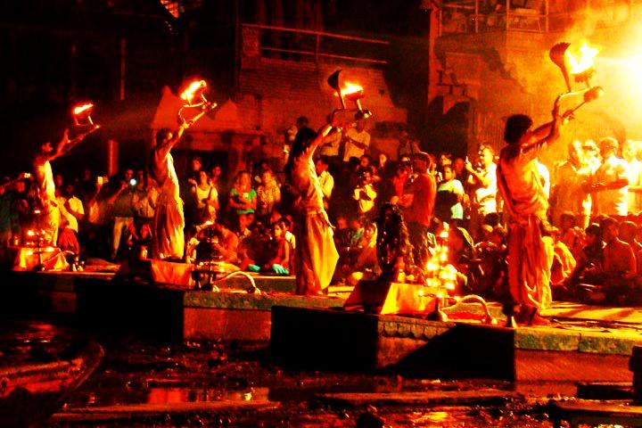 Ganga Aarti at Triveni Ghat